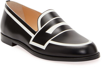 Christian Louboutin Tromoca Flat Printed Contrast Loafers