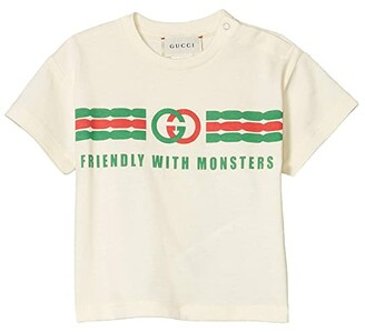 Gucci Kids Cotton Jersey w/ Logo Print T-Shirt (Infant) (Sunkissed) Kid's Clothing