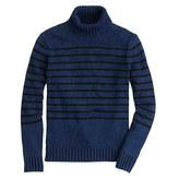J.Crew Wallace & Barnes indigo turtleneck sweater
