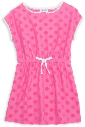 Flapdoodles Little Girl's Short-Sleeve Dotted Coverup
