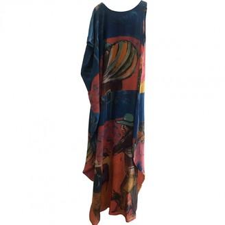Stella Jean Blue Silk Dress for Women
