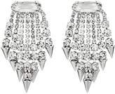 Nina Fringe Spike Earrings (Rhodium/White Crystal) Earring