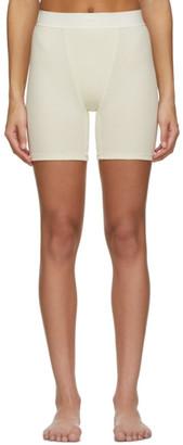 SKIMS Off-White Cotton Rib Boxer Shorts