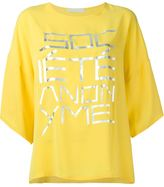 Societe Anonyme oversized front print T-shirt - women - Silk - One Size