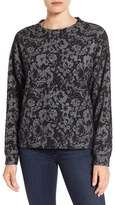 Bobeau Women's Lace Sweatshirt