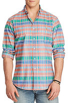 Polo Ralph Lauren Big & Tall Plaid Stretch Oxford Long-Sleeve Woven Shirt