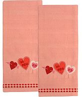 JCPenney Be Mine Set of 2 Embroidered Dish Towels
