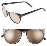 Linda Farrow 54mm 18 Karat Rose Gold Trim Retro Sunglasses