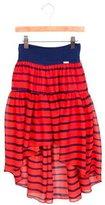 Junior Gaultier Girls' Striped High-Low Skirt