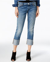 True Religion Liv DJ Blues Wash Relaxed Cuffed Jeans