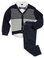 Nautica Boys 2-7 Four-Piece Cardigan and Bow Tie Set