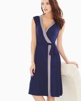 Soma Intimates Colorblock Short Dress Navy/Smokey Taupe