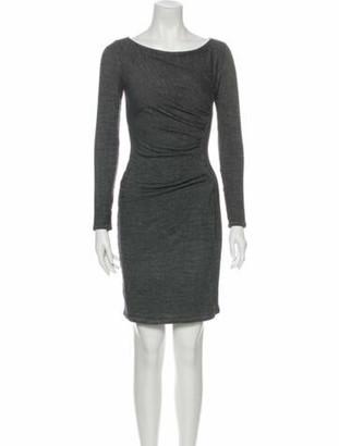 Max Mara Bateau Neckline Mini Dress Grey