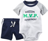 Carter's 2-pc. Short-Sleeve Polo Bodysuit and Shorts Set - Baby Boys newborn-24m