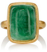 Malcolm Betts Women's Jade Cabochon & Yellow Gold Ring