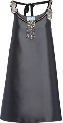 Prada embroidered A-line dress