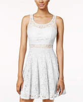 American Rag Lace Illusion Skater Dress, Created for Macy's
