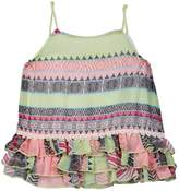 Little Mass Happy Printed Ruffle Tank Top (Toddler & Little Girls)