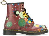 Dr. Martens floral print boots - women - Cotton/Leather/rubber - 39