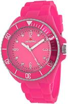 Seapro SP7416 Women's Sea Bubble Pink Silicone Watch with Crystal Accents