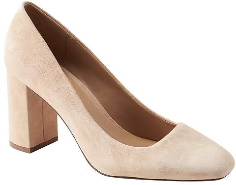 Banana Republic Square Toe Block-Heel Pump