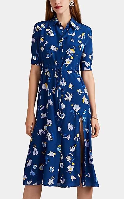 Altuzarra Women's Vittoria Floral-Print Silk Dress - Dusk