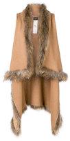 Liu Jo knitted fur vest