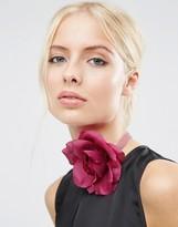 Asos Soft Rose Velvet Choker Necklace