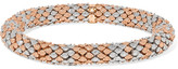 Carolina Bucci Twister 18-karat White And Rose Gold Bracelet - one size