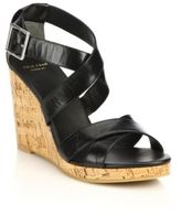 Cole Haan Jillian Cork-Wedge Leather Sandals