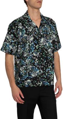 Givenchy Men's Floral-Print Hawaiian Shirt