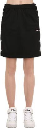 Jenna Cotton Track Skirt W/ Snap Buttons