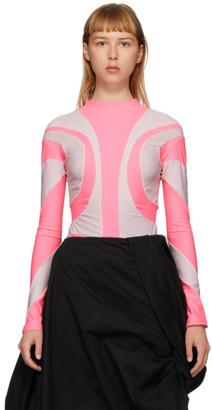 Paula Canovas Del Vas Pink Stretch Long Sleeve T-Shirt