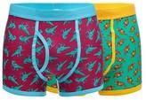 Red Herring Pack Of Two Multicoloured Dinosaur Print Trunks