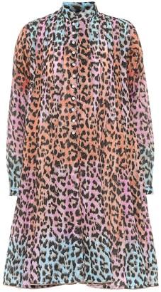Juliet Dunn Printed cotton mini shirt dress