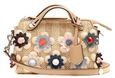 Fendi By The Way mini straw and leather cross-body bag