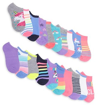 Capelli New York Girl's 10-Pair Anklet Sock Pack