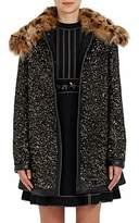 Marc Jacobs WOMEN'S FUR-COLLAR SEQUINED WOOL COAT