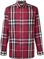Burberry checked shirt - men - Cotton/Polyamide/Spandex/Elastane - L