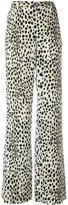Roberto Cavalli leopard print palazzo pants - women - Silk - 46