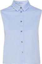 Alexander Wang Cropped cotton-twill shirt