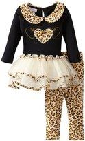 Bonnie Baby Baby-Girls Infant Leopard Trim Tutu Legging Set