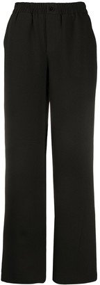 Ganni Elasticated Waist Straight Trousers