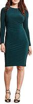 Lauren Ralph Lauren Plus Jersey Long Sleeve Dress