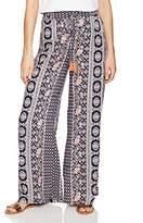 Angie Women's Boho Print Wide Leg Pant with Tassel