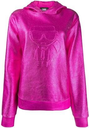 Karl Lagerfeld Paris Ikonik coated hoodie