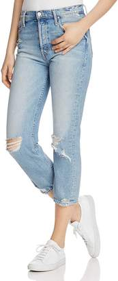 Mother The Tomcat Distressed Crop Jeans in The Confession