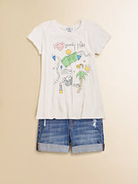 """Wildfox Couture Kids Girl's """"I Heart Beverly Hills"""" Cotton Tee"""
