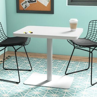 Steelcase Turnstone Lounge Table Top Finish: Arctic White, Base Finish: Arctic White