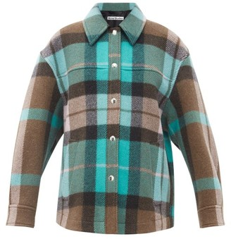 Acne Studios Checked Wool-blend Flannel Overshirt - Green Multi